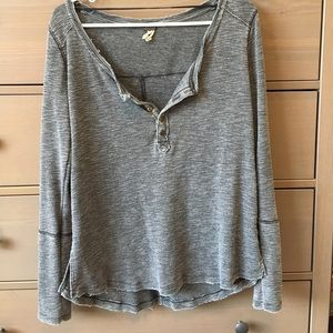 FREE PEOPLE gray long sleeve